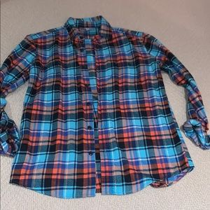 Flannel patterned Uniqlo button down